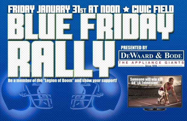 Calling all 12's for a Blue Friday Rally!
